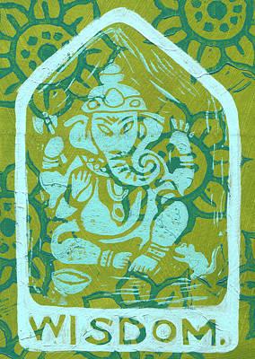 Ganesha Wisdom  Poster by Jennifer Mazzucco