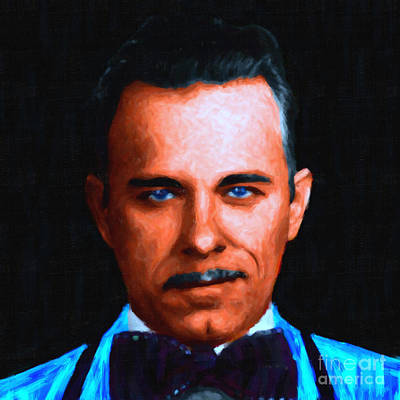 Gangman Style - John Dillinger 13225 - Black - Painterly Poster by Wingsdomain Art and Photography
