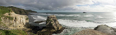 Gannet Bird Colonies On Muriwai Beach Poster by Panoramic Images