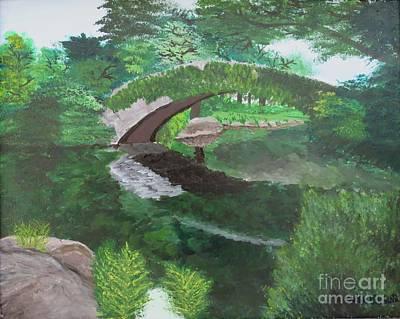 Gapstow Bridge Central Park New York City Poster
