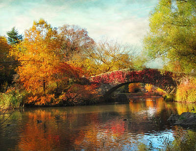 Gapstow Bridge In Autumn Poster by Jessica Jenney
