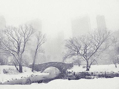 Gapstow Bridge In Winter Poster