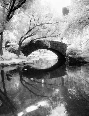 Central Park Photograph - Gapstow Bridge Vertical Poster by Dave Beckerman