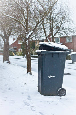 Garbage Bin  Poster by Tom Gowanlock
