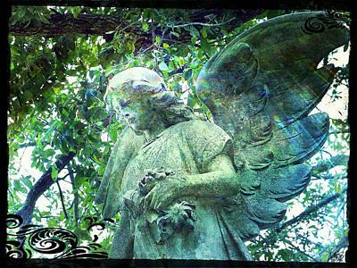 Garden Angel - Divine Messenger Poster by Absinthe Art By Michelle LeAnn Scott