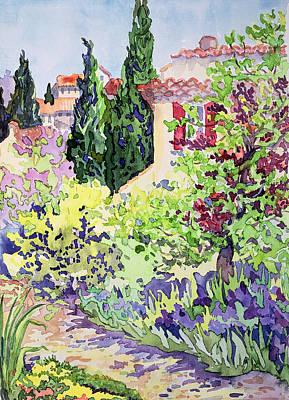 Garden At Vaison Poster by Julia Gibson