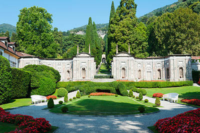 Garden At Villa Deste Hotel, Cernobbio Poster