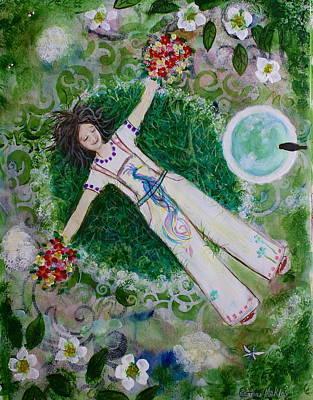 Garden Bathing Poster by Bettina Makley