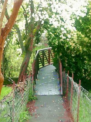 Garden Bridge Poster by Tamyra Crossley