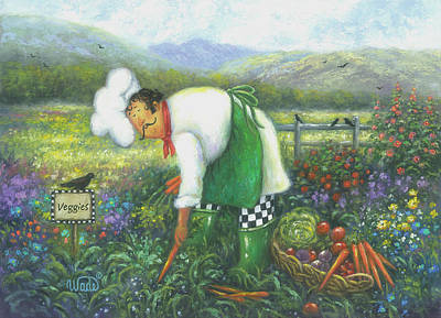 Garden Chef Poster by Vickie Wade