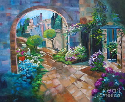 Garden Courtyard Poster