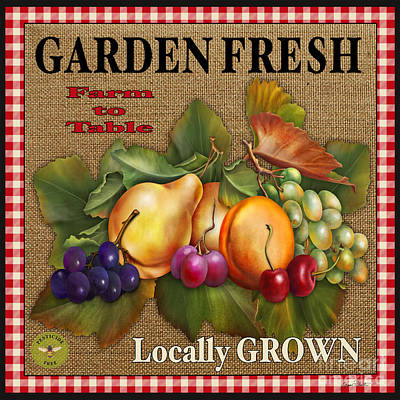 Garden Fresh-jp2386 Poster by Jean Plout