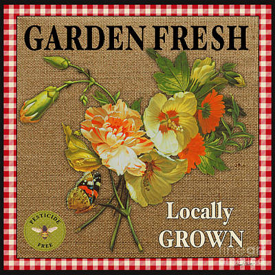 Garden Fresh-jp2387 Poster by Jean Plout