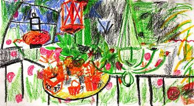 Garden Gala Poster by Anita Dale Livaditis