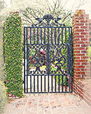 Garden Gate No. 1 Poster by Suzanne Muldrow