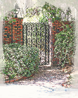 Garden Gate No. 2 Poster by Suzanne Muldrow