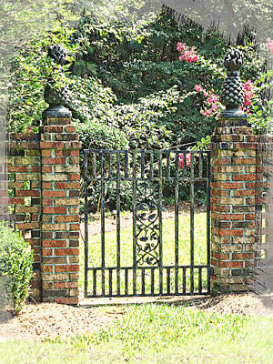 Garden Gate No. 3 Poster by Suzanne Muldrow