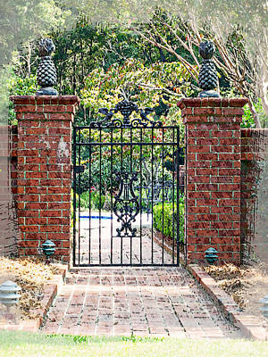 Garden Gate No. 4 Poster by Suzanne Muldrow