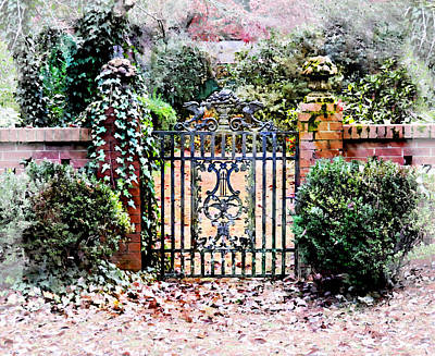 Garden Gate No. 5 Poster by Suzanne Muldrow