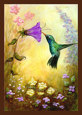 Poster featuring the mixed media Garden Guest In Brown by Terry Webb Harshman