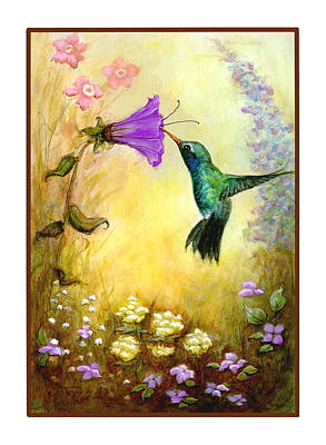 Poster featuring the mixed media Garden Guest by Terry Webb Harshman
