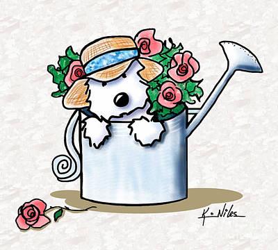 Garden Helper Westie Poster by Kim Niles