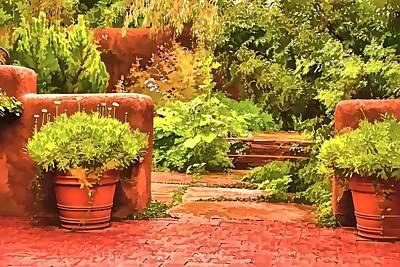 Poster featuring the painting Garden by Muhie Kanawati