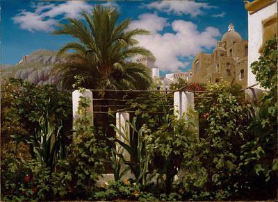 Garden Of An Inn. Capri Poster