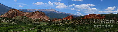 Garden Of Gods View Panorama Poster by Christiane Schulze Art And Photography