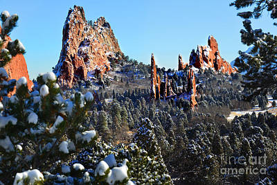 Poster featuring the photograph Garden Of The Gods After Snow Colorado Landscape by Jon Holiday
