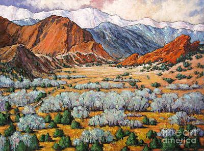 Garden Of The Gods Co Poster by Vickie Fears