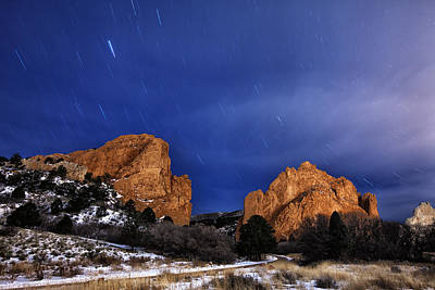 Garden Of The Gods Star Storm Poster by Darren  White