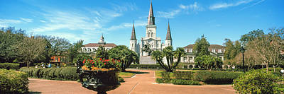 Garden Of The St. Louis Cathedral Poster by Panoramic Images