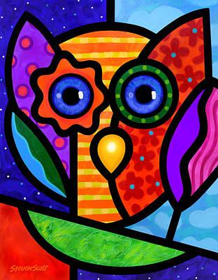 Garden Owl Poster