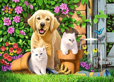 Garden Pals Poster by Chris Heitt