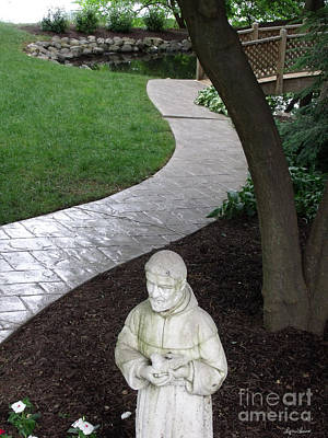 Poster featuring the photograph Garden Path St. Francis by Lyric Lucas