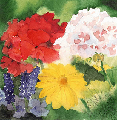 Poster featuring the painting Garden Phlox by Susan Crossman Buscho