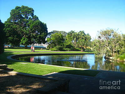 Poster featuring the photograph Sydney Botanical Garden Lake by Leanne Seymour