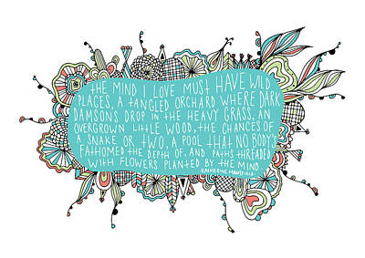 Garden Quote Poster by Susan Claire