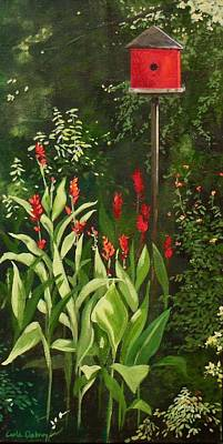 Garden Reds Poster by Carla Dabney