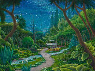 Poster featuring the painting Garden Under Ursa Major by Matt Konar