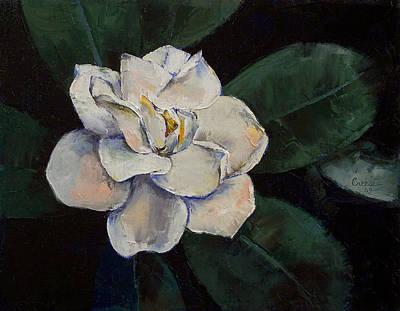 Gardenia Oil Painting Poster