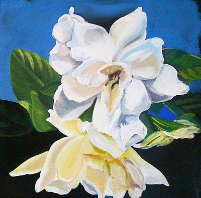 Gardenias Poster by Shelley Overton