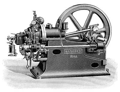 Gardner Petrol Engine Poster by Science Photo Library