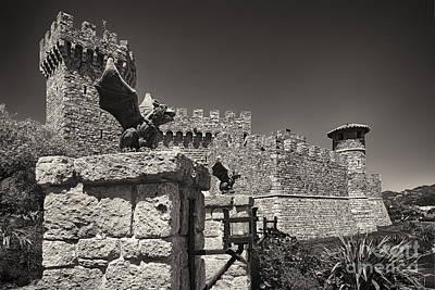 Gargoyles On A Castle Wall Poster by George Oze