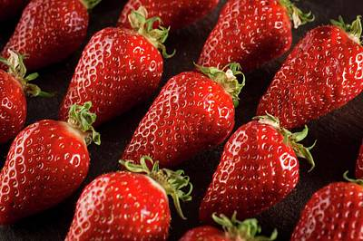 Gariguette Strawberries Poster