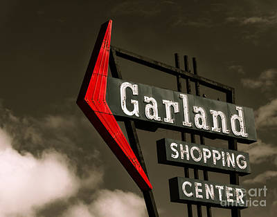 Garland Texas Shopping Poster by Sonja Quintero