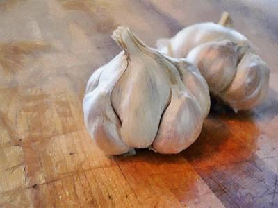 Garlic Cloves Poster by Michelle Calkins