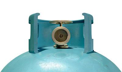 Gas Cylinder Valve Closeup Poster