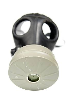 Gas Mask On Whit Poster by Photostock-israel